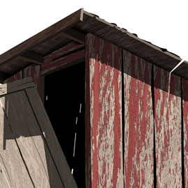 Weathered Outhouse
