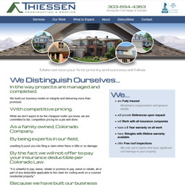 Thiessen Roofing Website